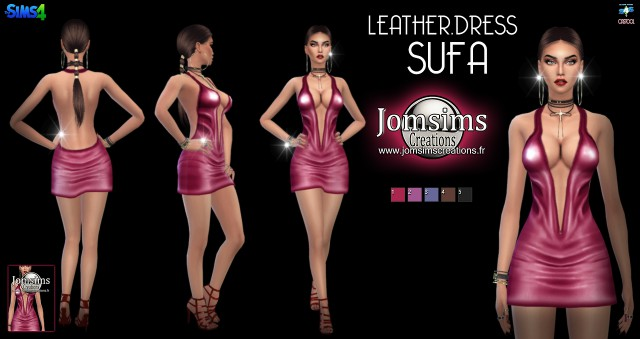 Sufa leather dress by Jomsims