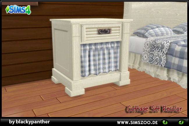 Cottage Set Side table Rec White by blackypanther