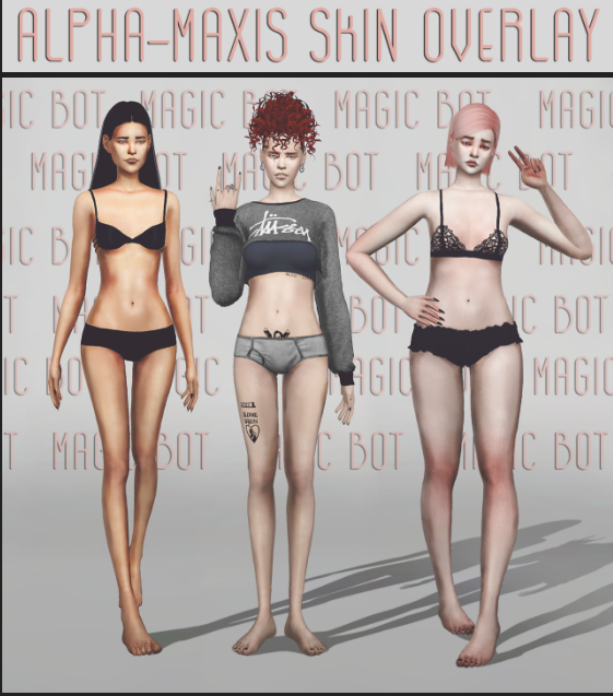 Alpha-maxis skin overlay by magic-bot