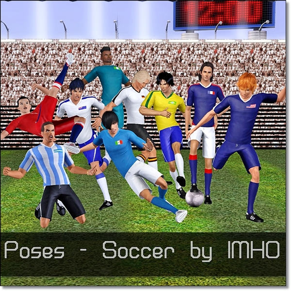 13 Poses Soccer by IMHO