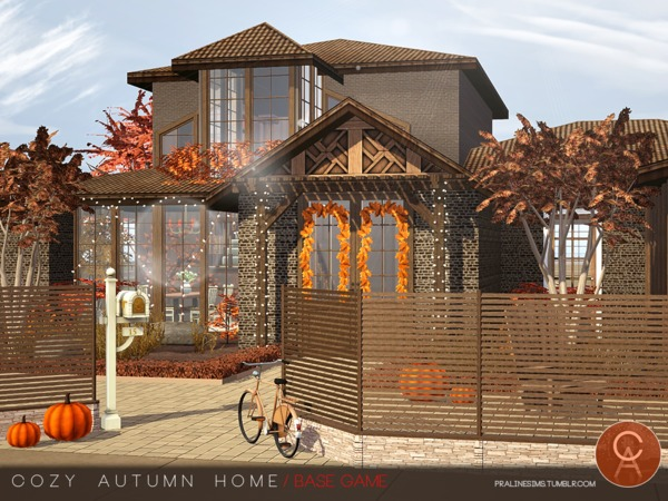 Cozy Autumn Home by Pralinesims