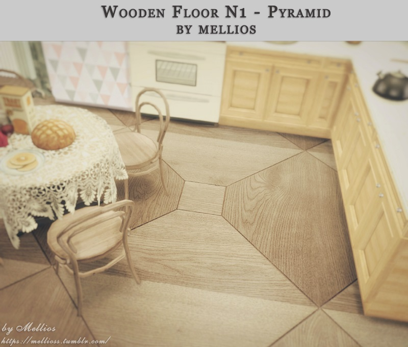 Wooden Floor N1 - Pyramid by Mellios