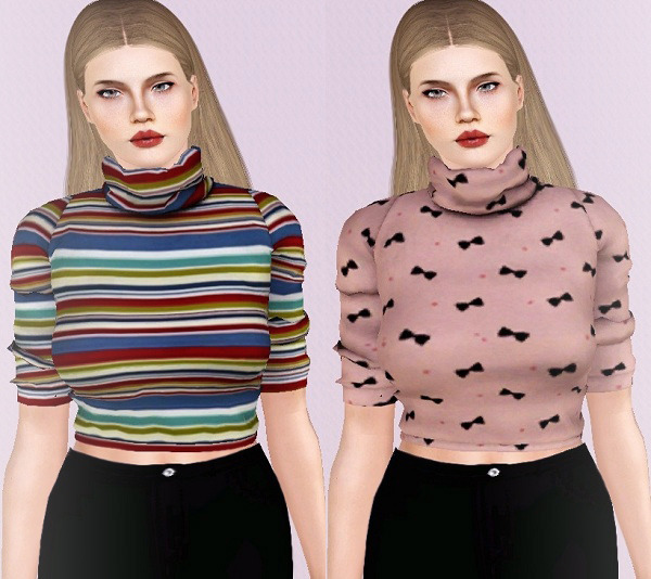Short Sleeve Turtleneck Sweaters by Descargassims
