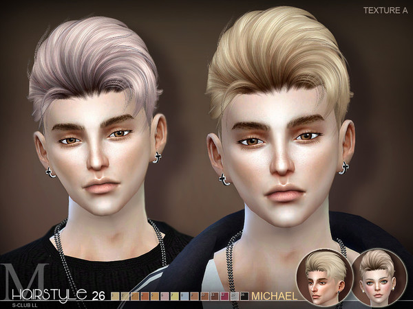 ts4 hair Michael n26 by S-Club