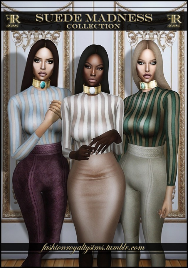 Suede Madness Collection by FashionRoyaltySims