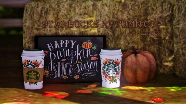 Starbucks autumn cup by vil-lain