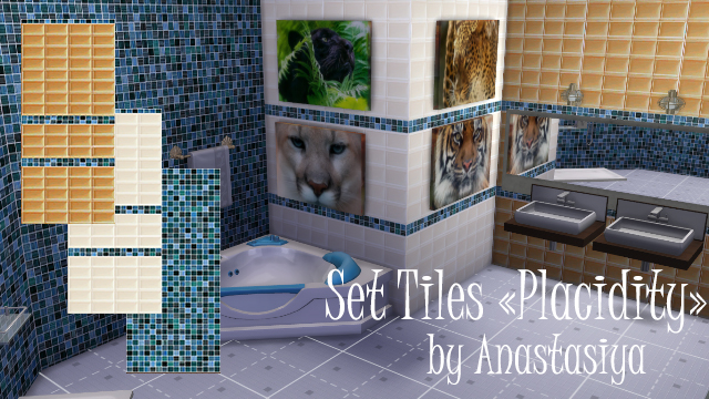 "Tiles ""Placidity"" by Anastasiya"