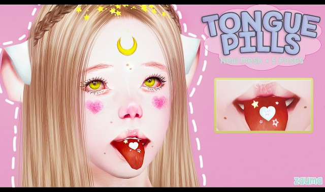 Таблетки на язык + 6 поз TS3 TONGUE PILLS ACC by zauma