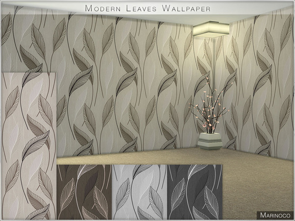 Modern Leaves Wallpaper by Marinoco