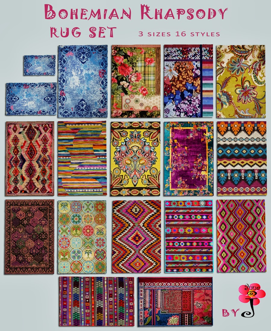 Bohemian Rhapsody rug set by SimsMustHave