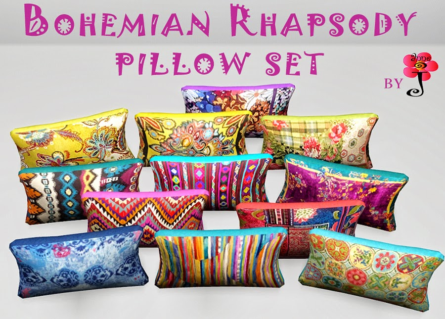 Bohemian Rhapsody Pillow set by SimsMustHave