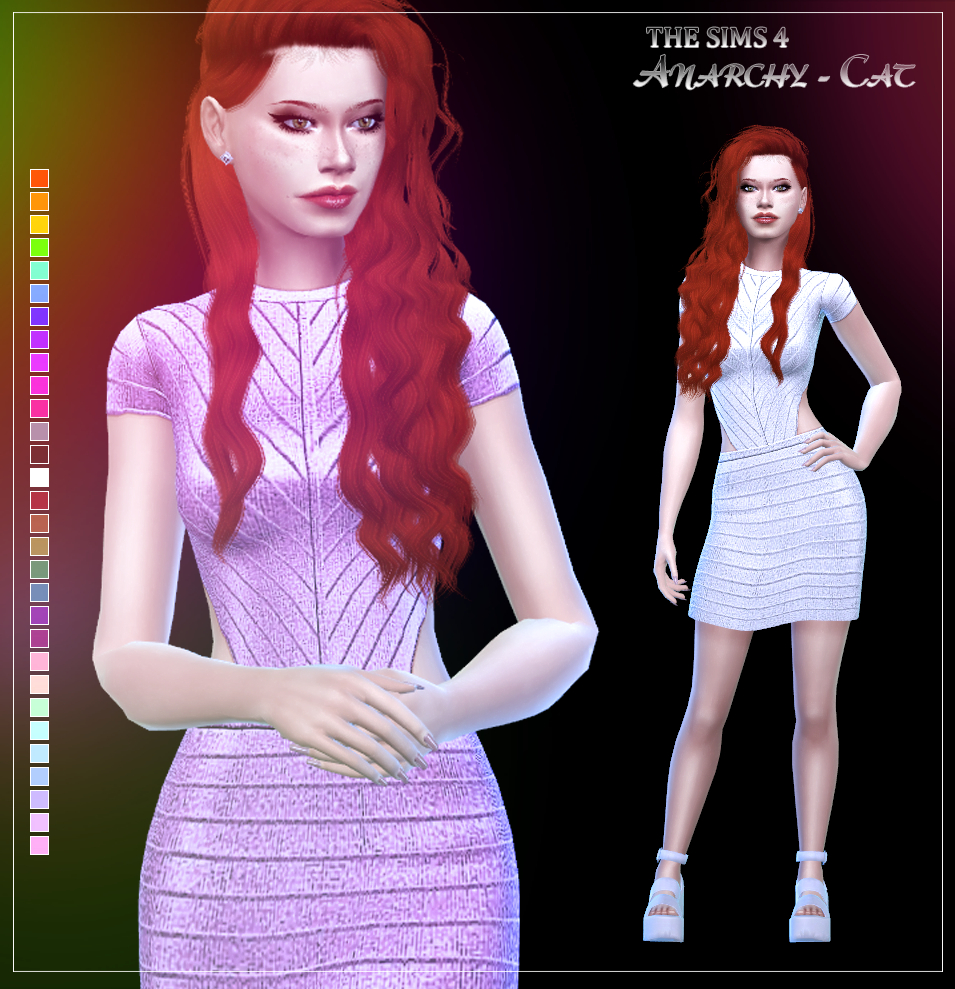 Fitted Backless Dress by Anarchy-Cat