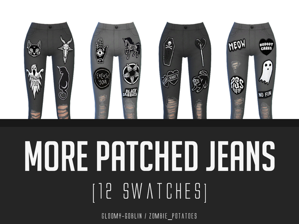 More Patched Jeans by zombie_potatoes