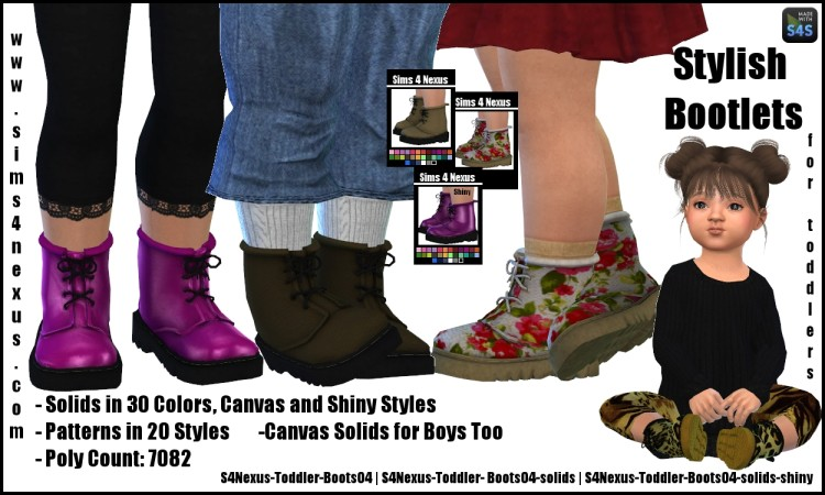 Stylish Bootlets by sims4nexus