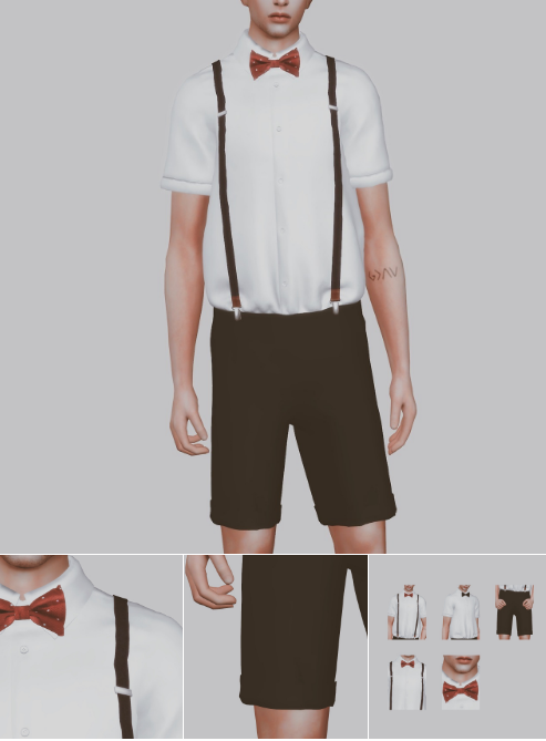 Suspenders Suit Set  2000 Follow Gift by bear-sims