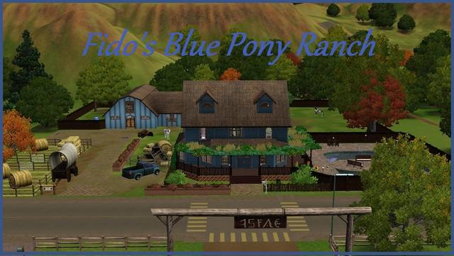 Fido's Blue Pony Ranch by MadamVioletDomme