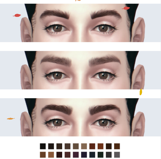 eyebrows_set1 by pixelore