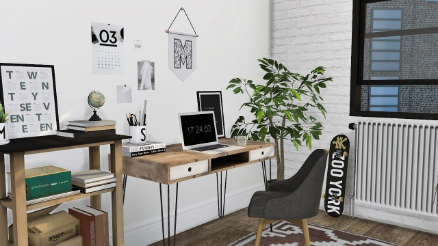Mid Century Office #6 by Mxims