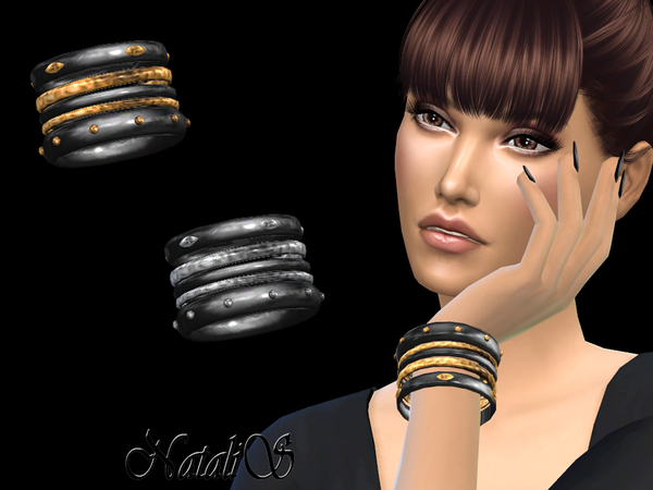 NataliS_Onyx and Metal Bracelets