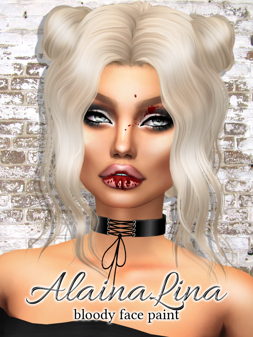 Bloody Face Paint by alainalina