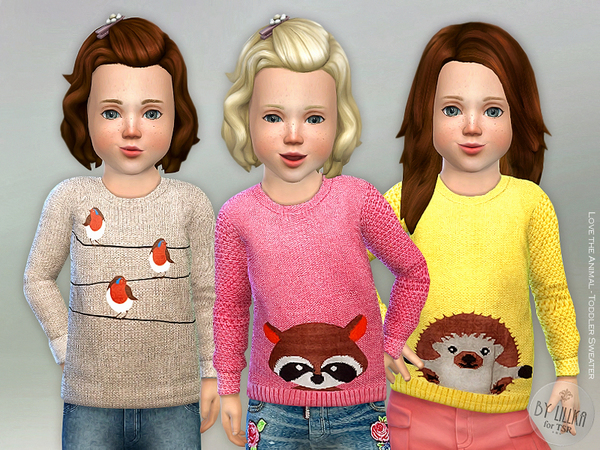 Love the Animals - Toddler Sweater by lillka