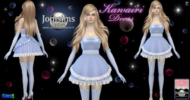 Kawairi maid dress by Jomsims