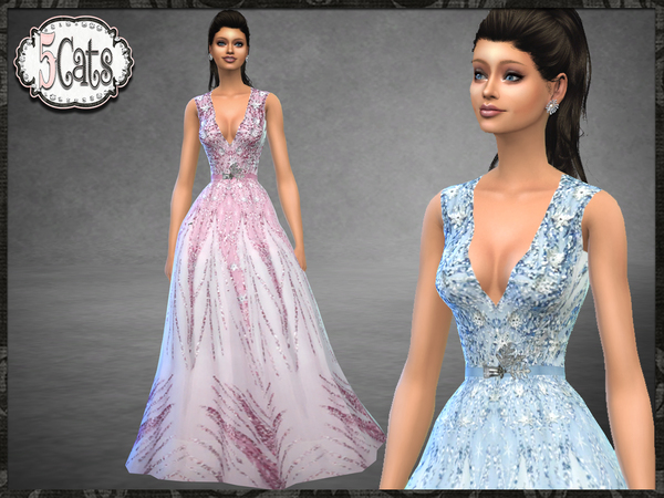 ZN Winter Snowflake Ice Gown by Five5Cats