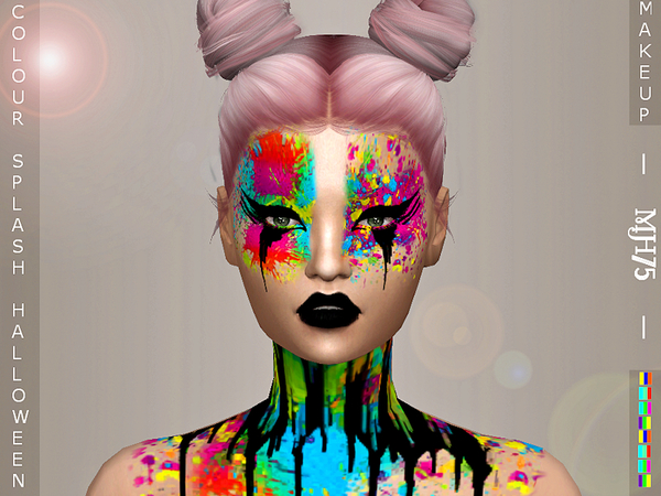 S4 Halloween Coloursplash Makeup by Margeh-75