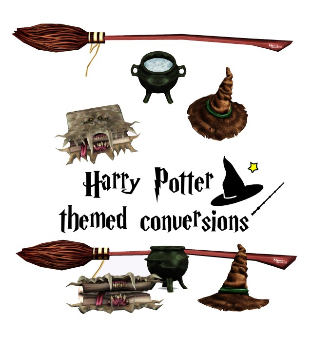 HP Conversions & Sweet Herbs Cauldron by sugary-plumb