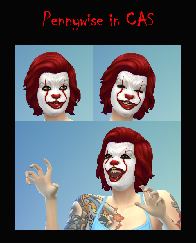 Pennywise Facepaint by Simmiller
