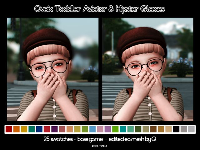 Toddler Aviator & Hipster Glasses by Qvoix