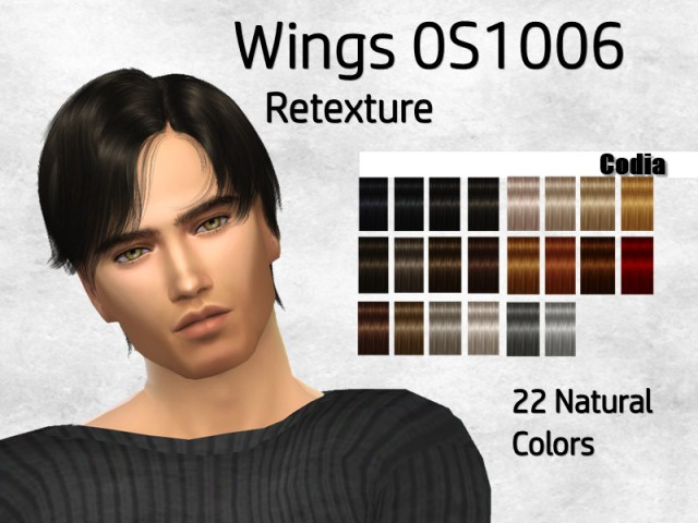 Wings Hair OS1006 Retexture by Codia