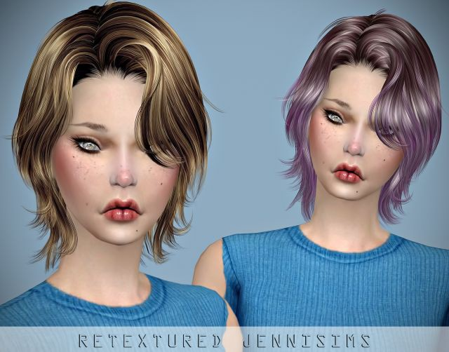 Newsea Unchained Hair retexture Male/Female by JenniSims