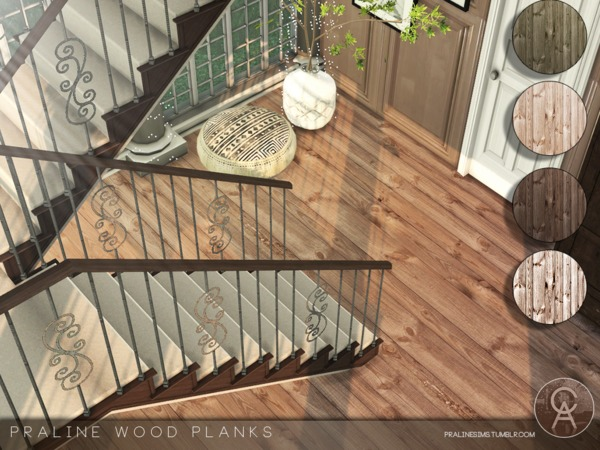 Praline Wood Planks by Pralinesims