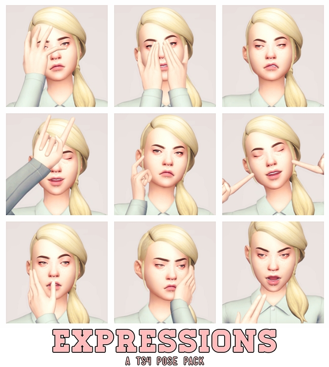 EXPRESSIONS - POSES by ApplePieDimples