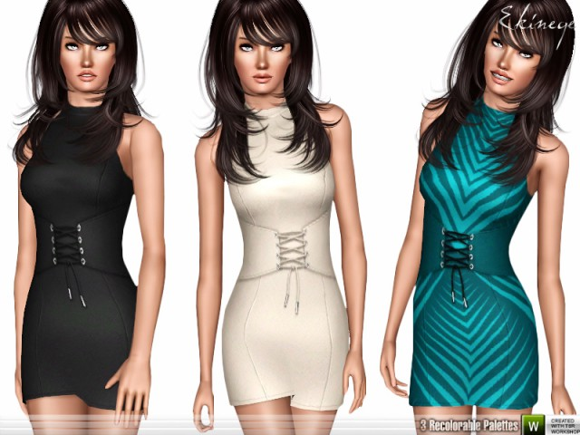 Corset Waist Bodycon Dress by ekinege