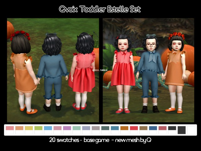 Toddler Estelle Set by Qvoix