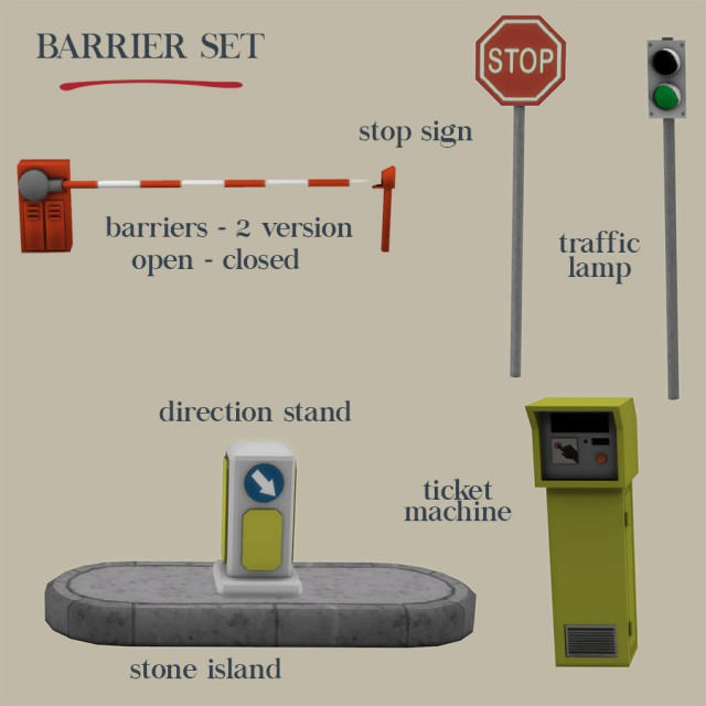 Barrier Set by Leo-Sims