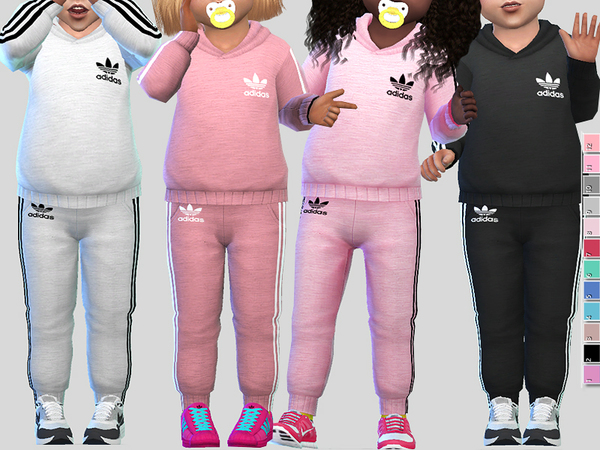Adidas Athletic Toddler Outfit by Pinkzombiecupcakes