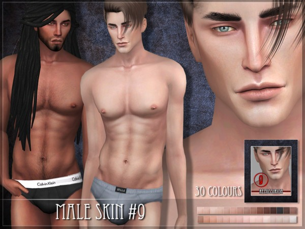 Male skin 09 by RemusSirion