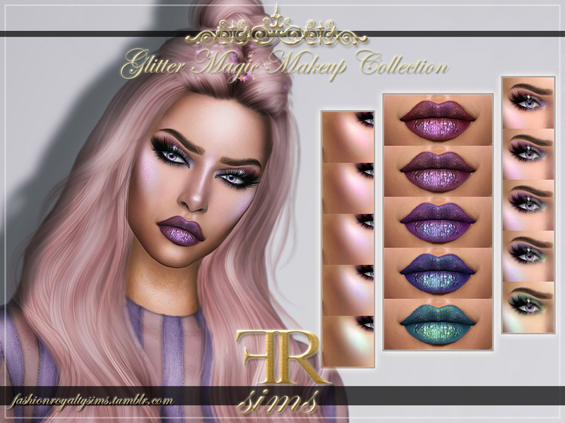 Glitter Magic Makeup Collection by FashionRoyaltySims