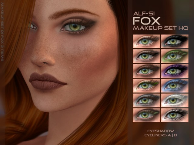 Fox - Eyes Makeup Set HQ by Candycanesugary by Alf-si