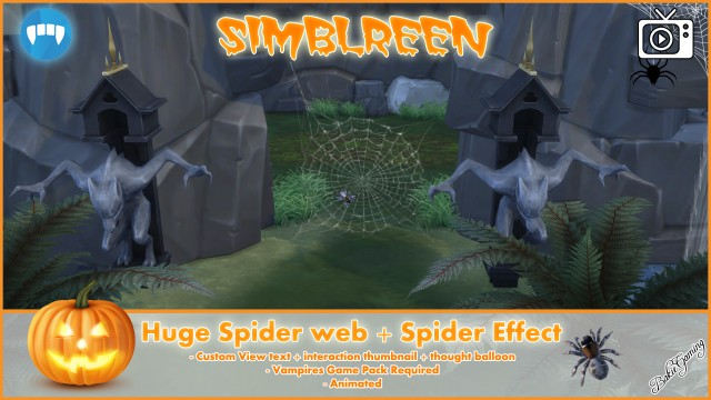 Simblreen - Huge Spider web + Spider by Bakie