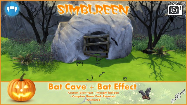 Simblreen - Bat Cave + effect by Bakie