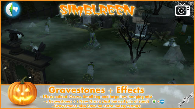 Simblreen - Gravestones + Effects by Bakie