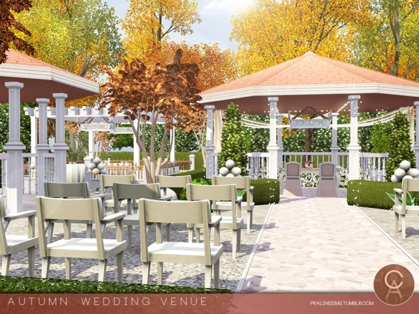 Autumn Wedding Venue by Pralinesims
