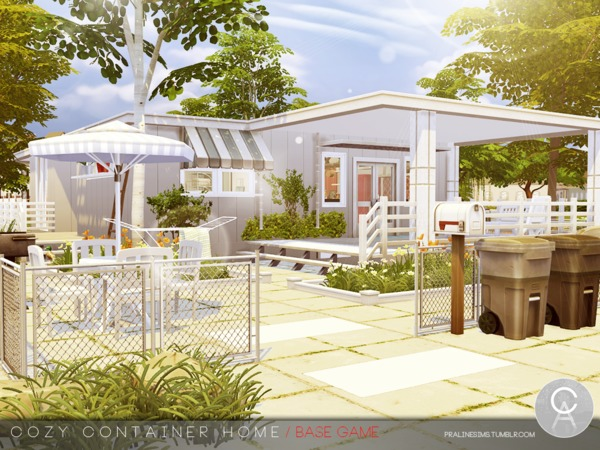 Cozy Container Home by Pralinesims