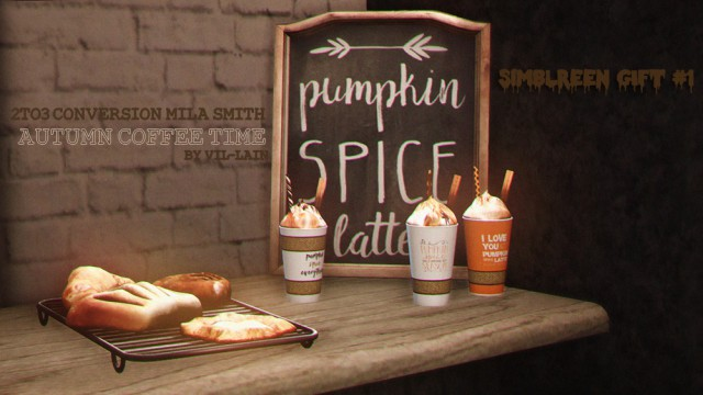 2to3 Conversion Mila Smith Autumn Coffee Time by vil-lain
