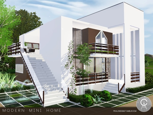 Modern Mini Home by Pralinesims