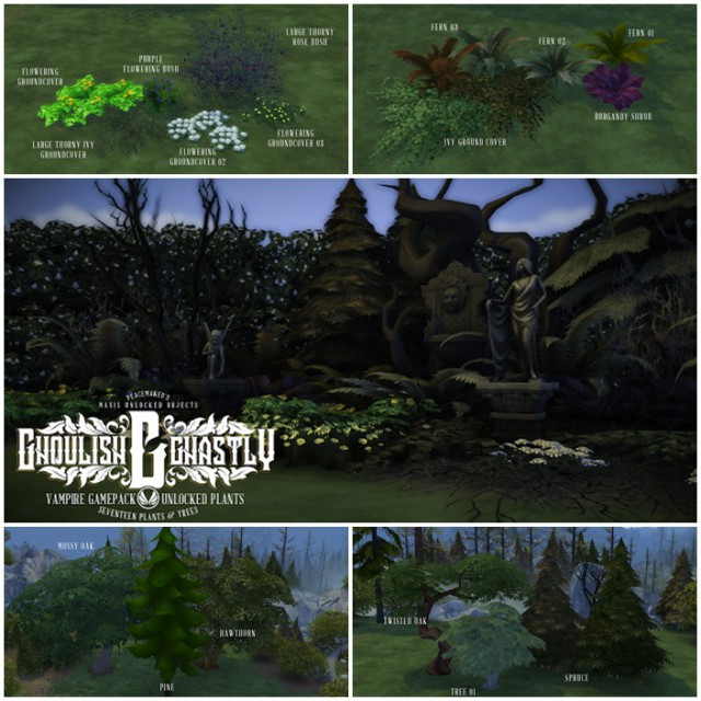 Ghoulish & Ghastly - Vampire Pack Plants and Trees unlocked by Peacemaker ic
